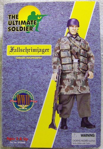 21st Century Toys Ultimate Soldier WWII Series 1 Fallschrimiager German Paratrooper 12