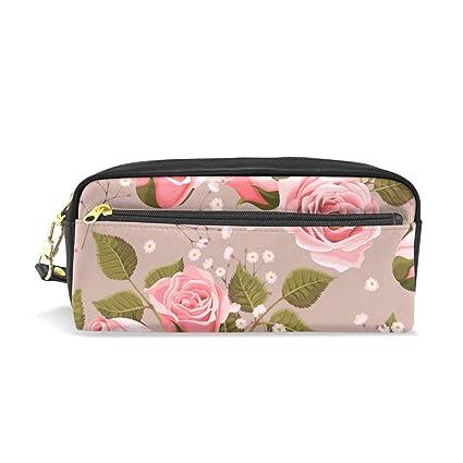 Estuche para lápices con diseño floral de rosas vintage, bolsa ...