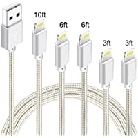 5-Pack Idison MFi-Certified Lightning Cable (Silver)