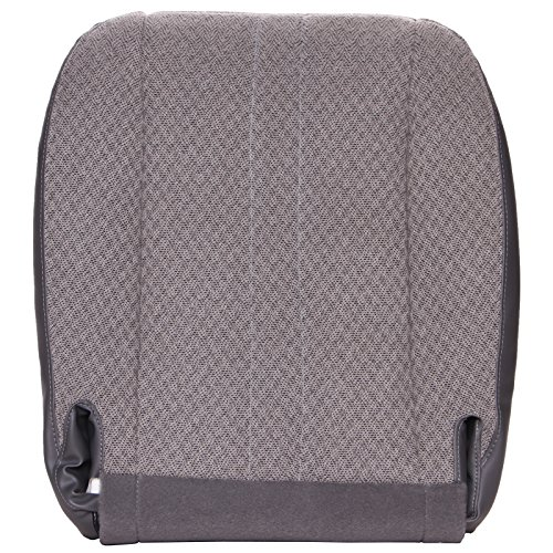 The Seat Shop Work Van Driver or Passenger Bottom Replacement Seat Cover - Medium Dark Pewter (Gray) Cloth (Compatible with 2003-2014 Chevrolet Express and GMC Savana)