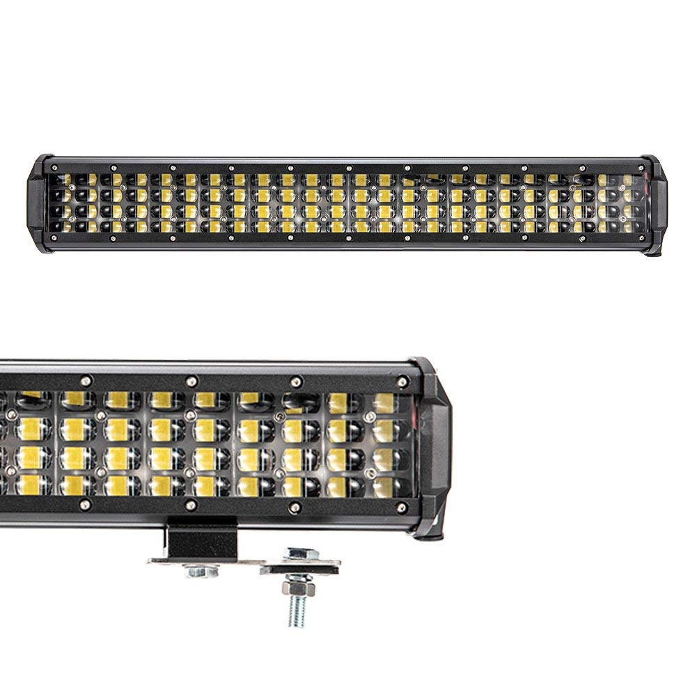 Liteway LED Pods 2 Pcs 4 inch Triple Row LED Light Bar Spot Flood Combo Beam CREE LED Driving Lights Off Road Lighting LED Work Lights for Truck Car ATV Boat SUV