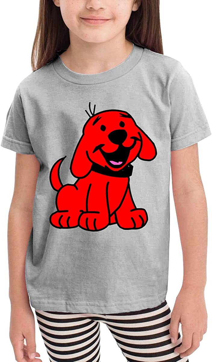 Clifford The Big Red Dog Little Baby Girls Boys Long Sleeve T Shirt Lovely Crew Neck Cotton Tops