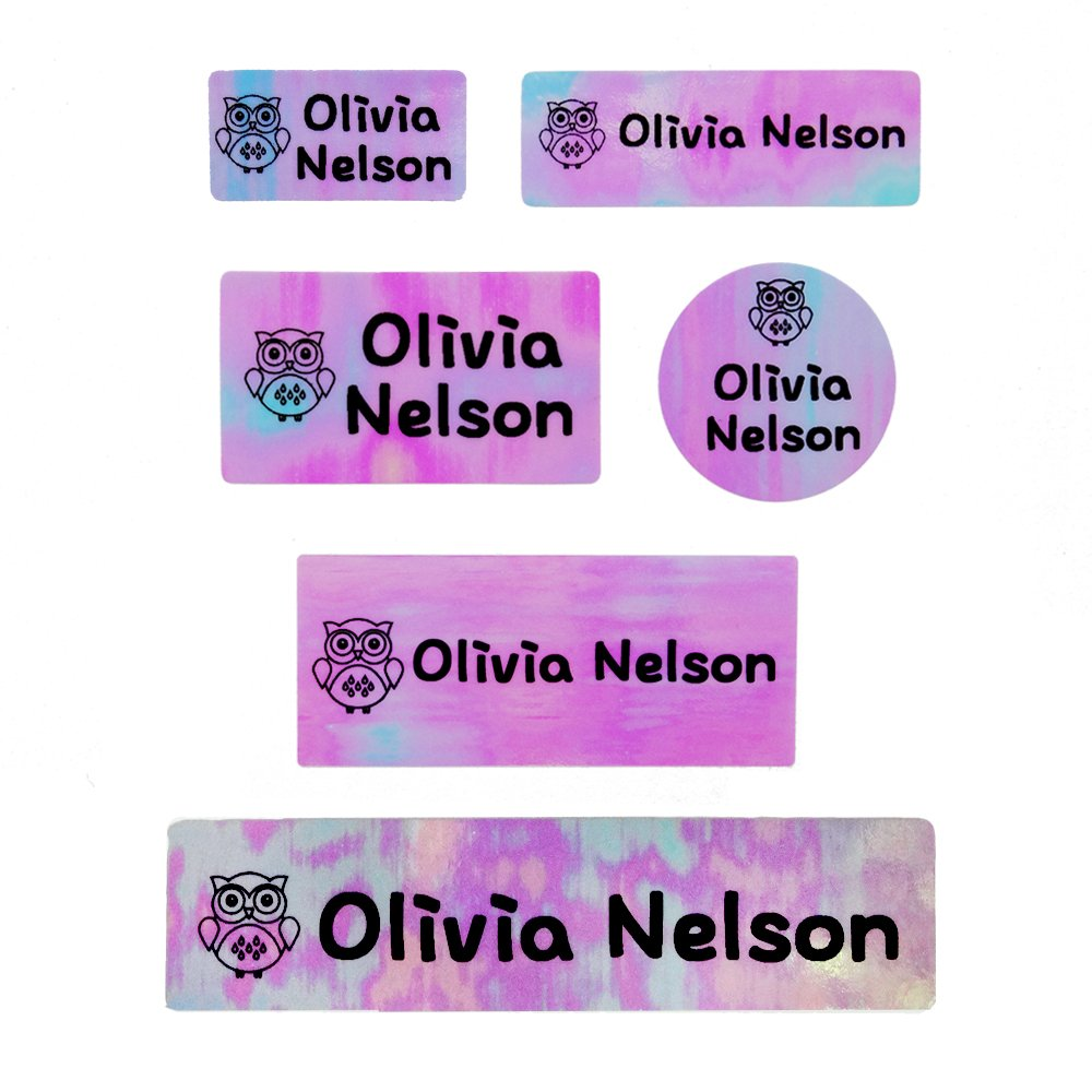 Amazon com custom personalized customized name label stickerpink pack office products