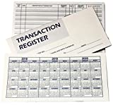 10 checkbook registers - Checkbook Transaction Registers with 2018 - 19 - 20 Calendars - Set of 10