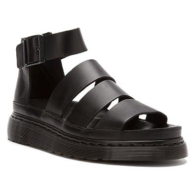 Dr Martens Voss Sandals Women NZ Black Hydro Leather