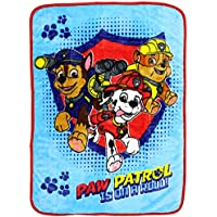 Paw Patrol Chase/Marshall/Rubble Toddler Blanket, Blue