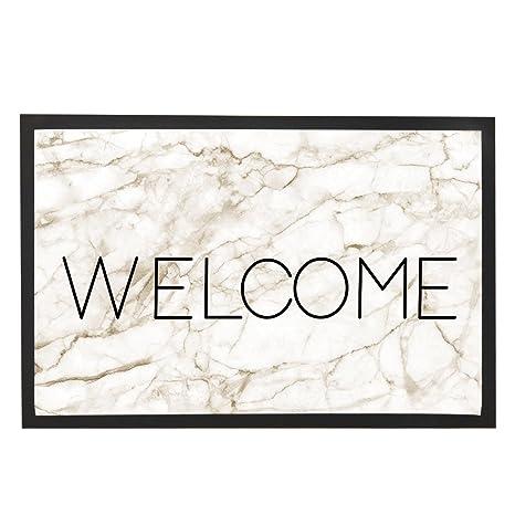 Bienvenue En Marbre Exterieur Tapis Personnalises Tapis De Porte D