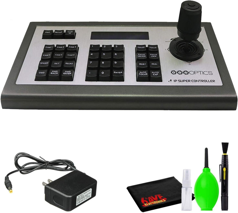 PTZOptics PT-JOYG3 4D IP Joystick Controller (GEN3) with Power Supply and 6Ave Cleaning Kit