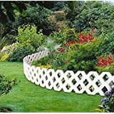 Set of 4 Flexible Inter-Locking Garden Borders