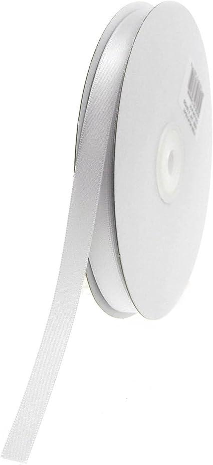 invitations card making S61 Hanger Loop 100yds Grayish Blue Narrow Nylon Satin Ribbon Double Faced 18 inch  4mm width 50yds