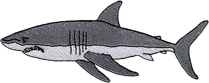 Megalodon Shark Prehistoric Embroidered Patch Hook and Loop Souvenir Applique