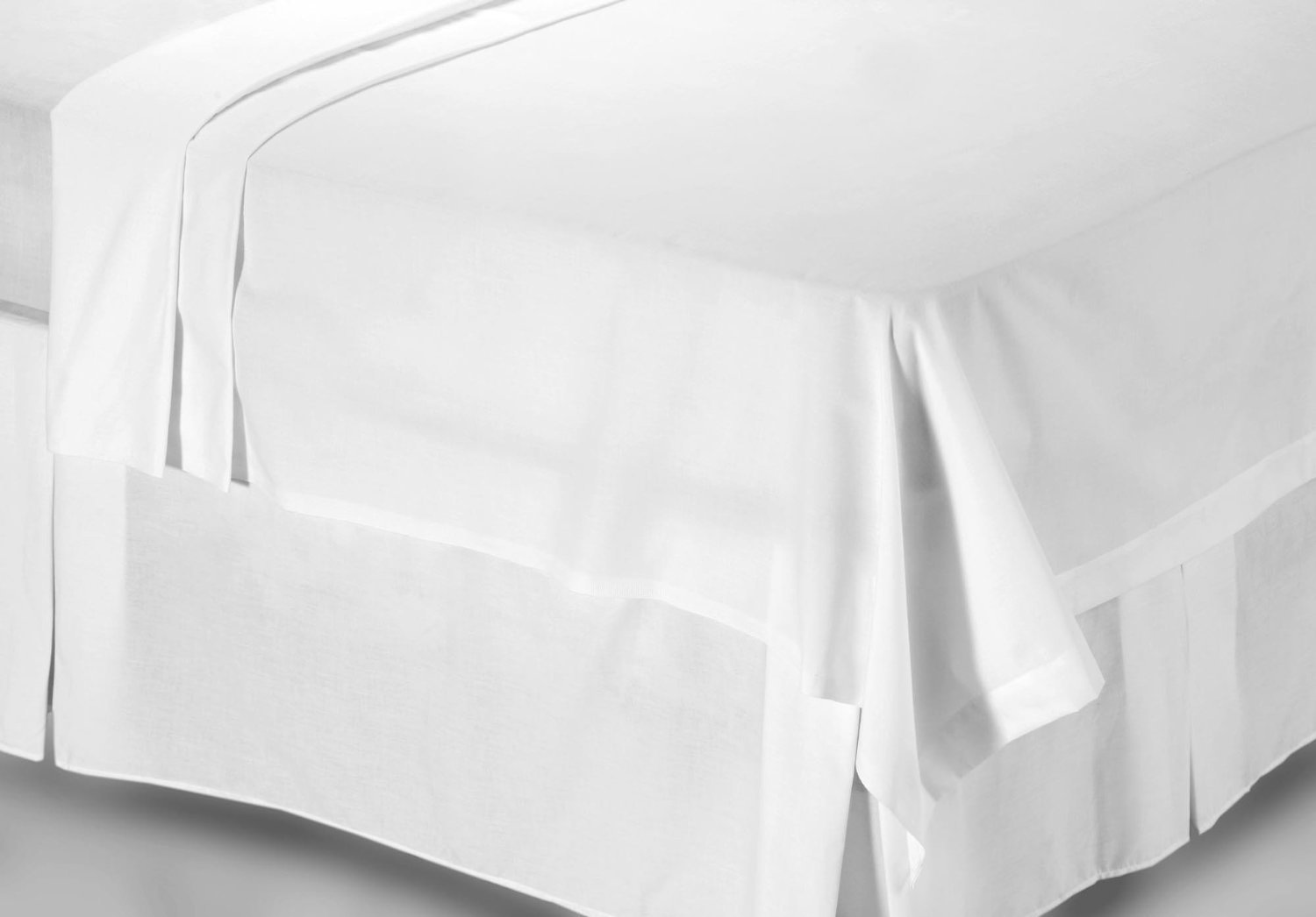 BRIGHTLINEN 1PC Flat Sheet (Solid) 100% Egyptian Cotton Hotel Quality 400 Thread Count (QUEEN)