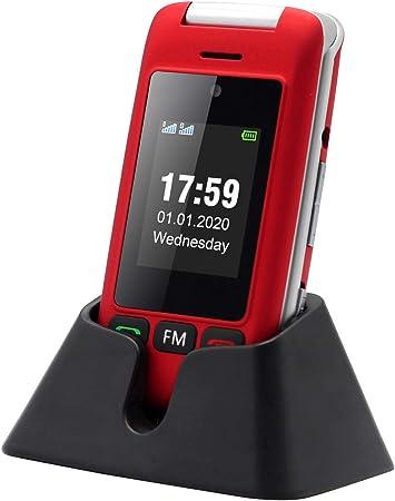 artfone Flip Teléfono Móvil para Personas Mayores con Teclas Grandes con Pantalla de 2.4 Pulgadas | Fácil de Usar para Ancianos | MMS | SOS Botón | Cámara: Amazon.es: Electrónica