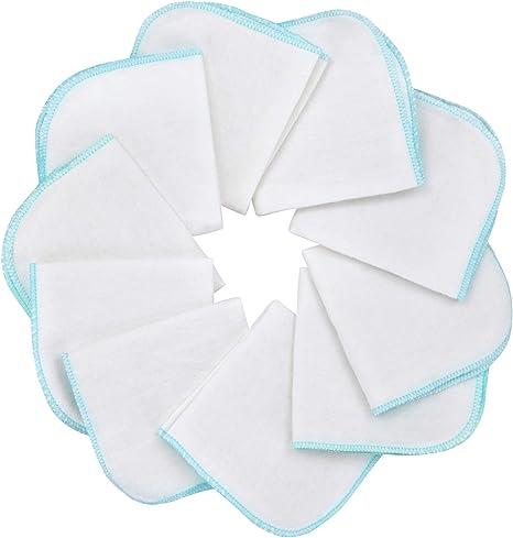 Mias paño de franela bebé - 10 toallas para bebé de franela de molton, blanca-azul, de algodón, libre de sustancias nocivas/muselina para bebé/toallitas cosméticas/paños multiuso: Amazon.es: Bebé