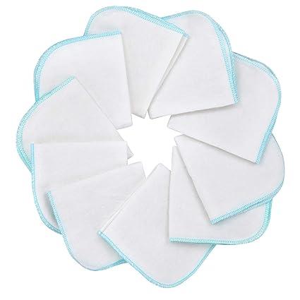 Mias paño de franela bebé - 10 toallas para bebé de franela de molton, blanca