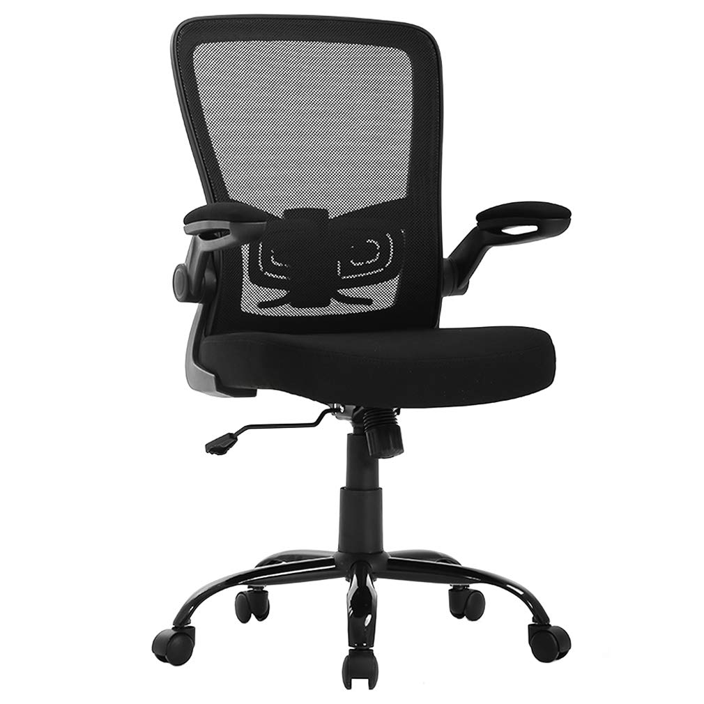 FDW Ergonomic Mesh Office Chair, Executive Rolling Swivel Chair, Computer Chair with Lumbar Support Desk Task Chair for Women, Men(Black)