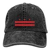 Washington DC Flag Denim Dad Cap Baseball Hat Adjustable Sun Cap