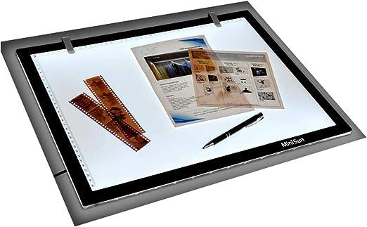 MiniSun - Tableta de luz LED de tamaño A3 ultra fina para diseño, dibujo y manualidades: Amazon.es: Bricolaje y herramientas