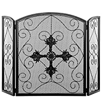 MyGift 3-Panel Shield Motif with Scrollw...