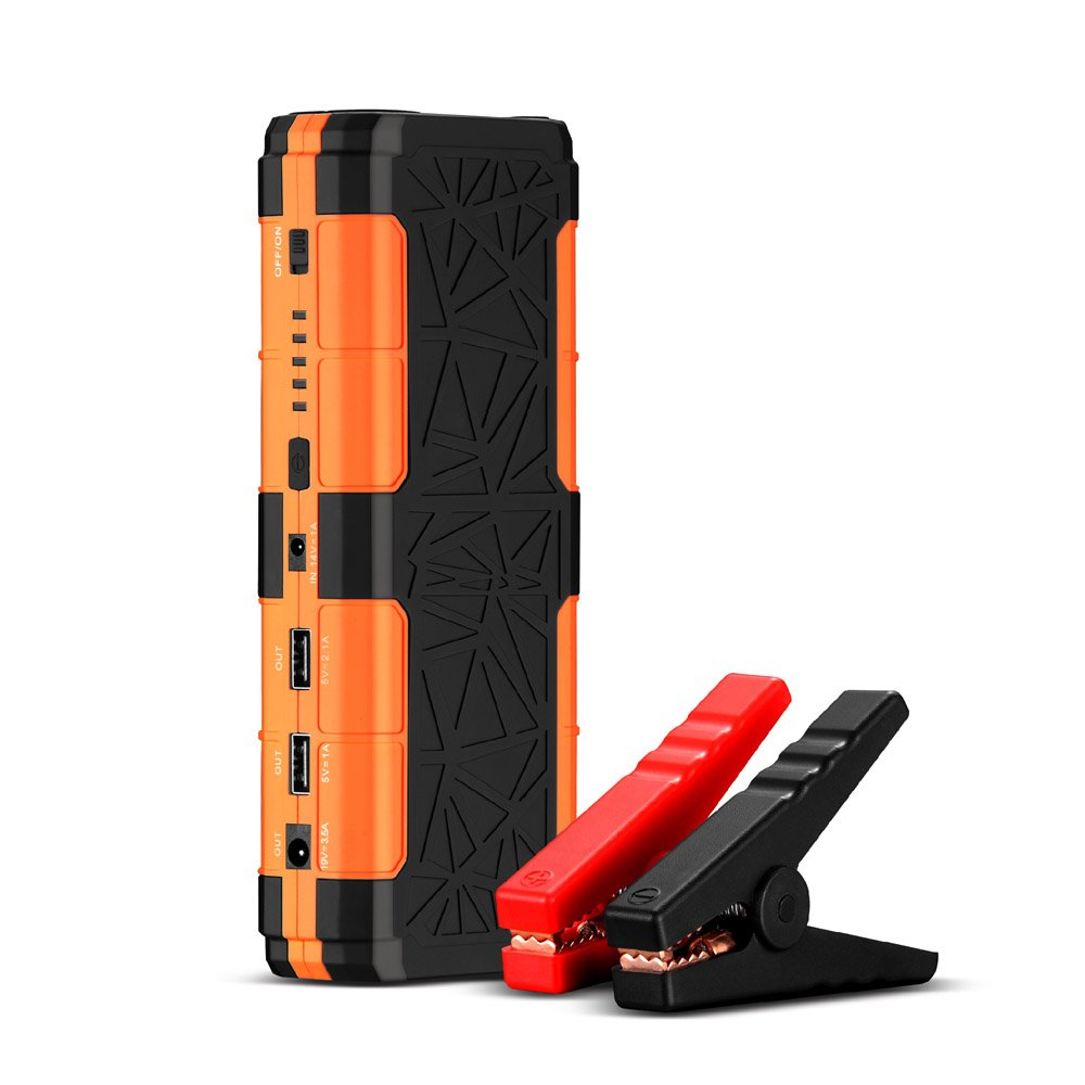 KACUL 12V 600A Peak 15000mAh Car Jump Starter(up to 5.0L Gas or 2.5L Diesel),Battery Booster Portable Power Pack with LED Light and Dual USB Ports
