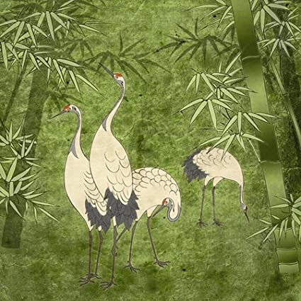 3dRose lsp/_20895/_1 Cranes in Bamboo Forest Single Toggle Switch