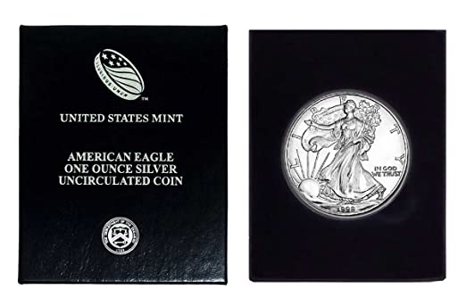 American Silver Eagle .999 Fine Silver with Our Certificate of Authenticity Dollar Uncirculated 1998