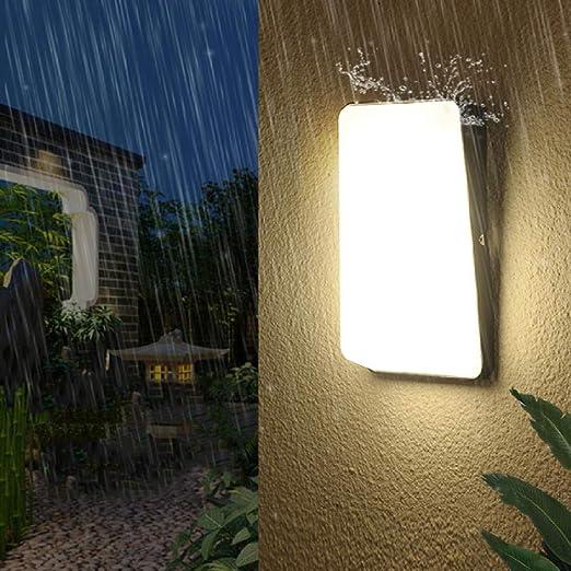 15W Exterior Impermeable LED Luz de pared Porche Luz Aluminio Jardín Balcón LED Lámpara de pared Pasillo Pasillo Villa Puerta@Blanco_15W cuerpo negro: Amazon.es: Iluminación