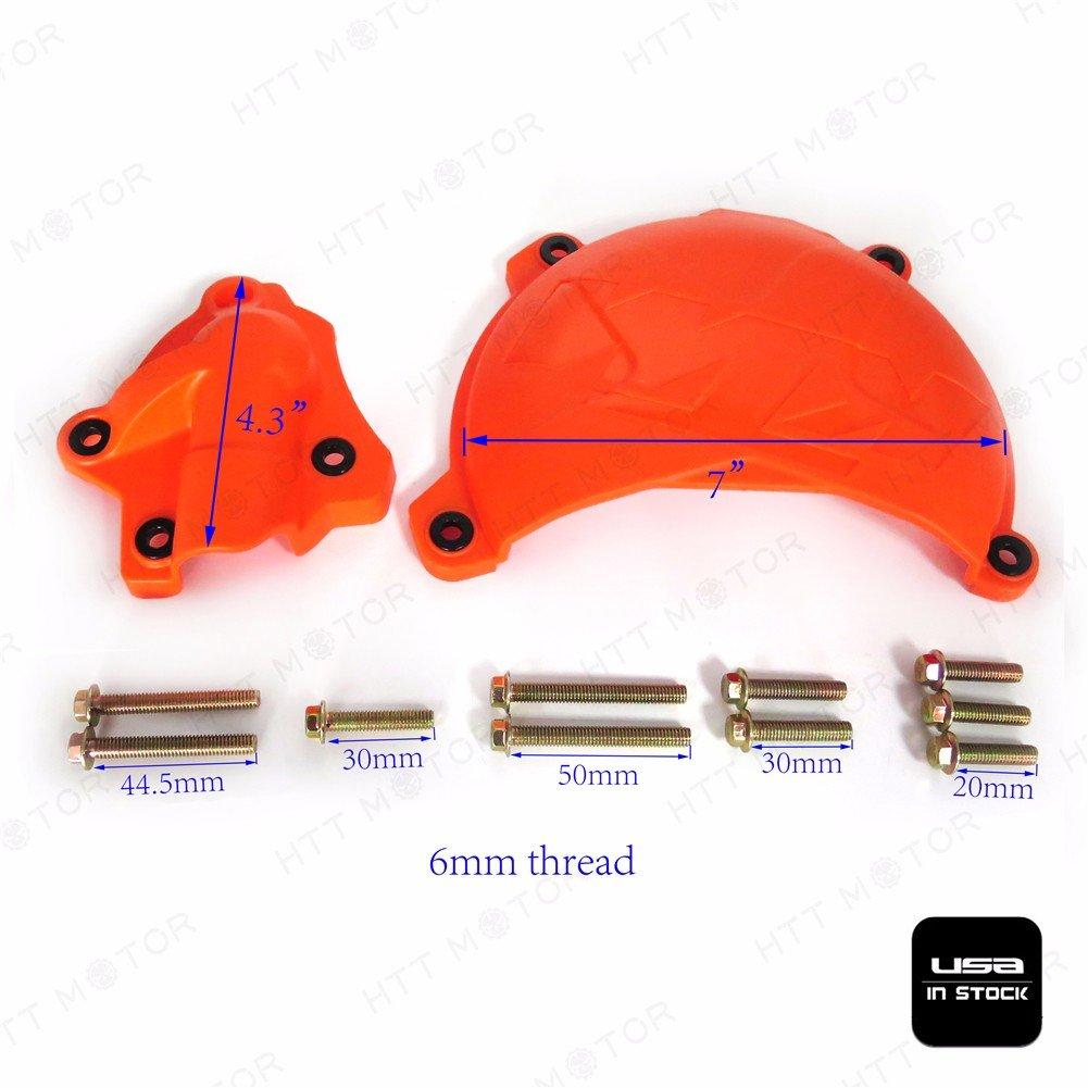Naranja Cubierta de protección w/bomba de agua pantalla de embrague: Amazon.es: Coche y moto