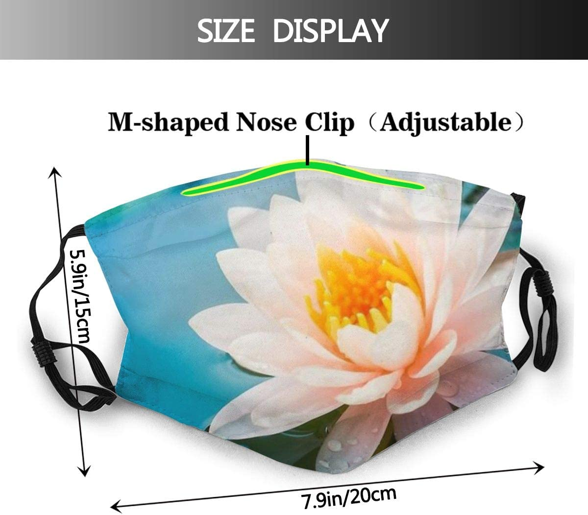 KASSD Adlut Facial Masks Tropical Flower Washable Mouth Cover Reusable Nose Covering
