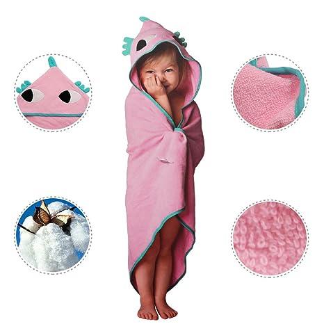 Runer - Toalla con capucha para bebé, 100% algodón, 75 x 75 cm