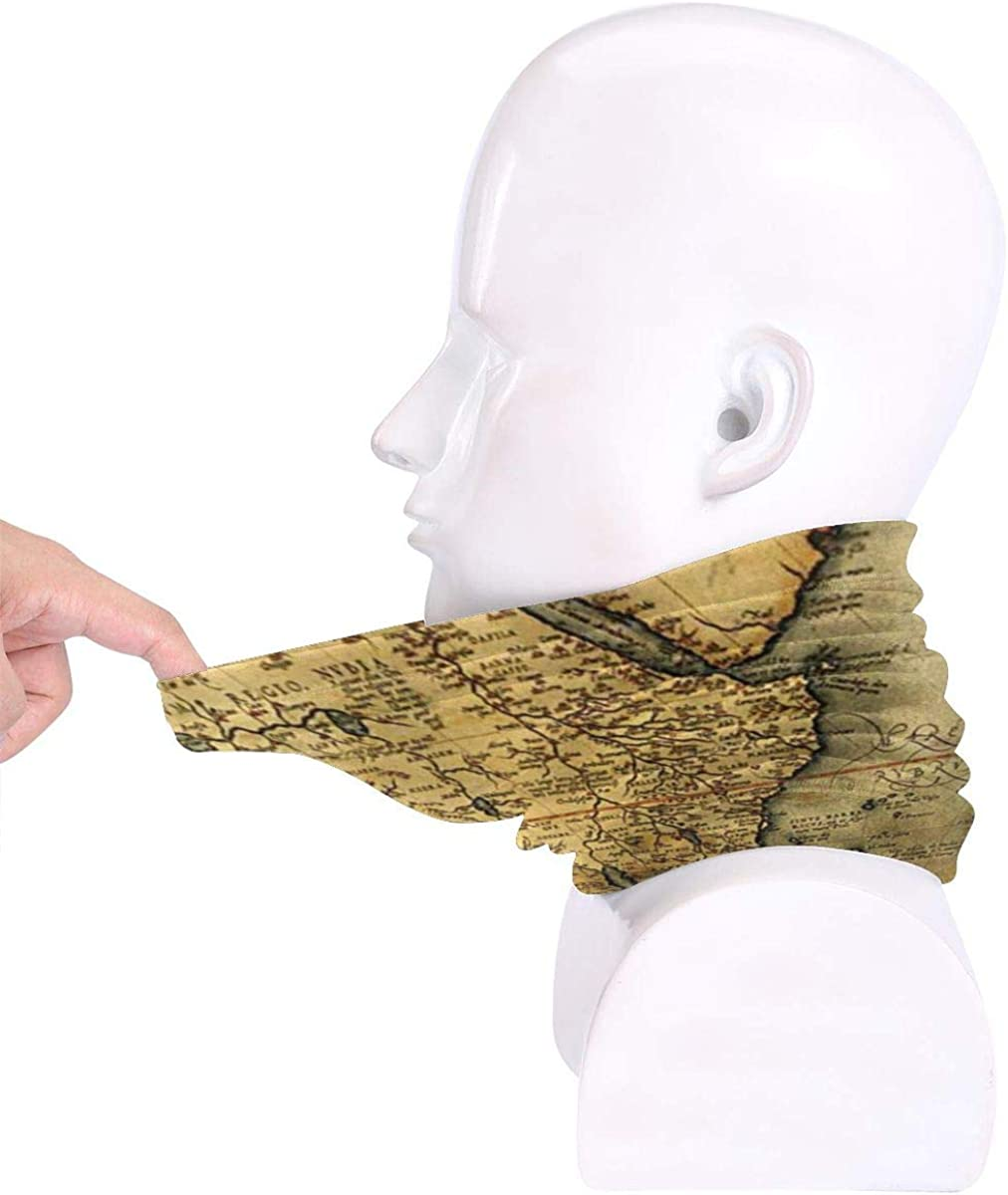 NA Green Brown1 Mask Warm Neck Scarf Outdoor UV Protection Party Cover Men and Women Multi-Function Headdress