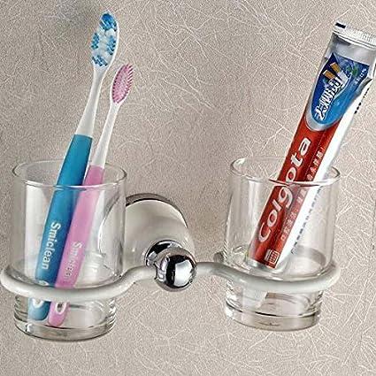 Buluke Soportes para cepillos de dientes de oro moderna