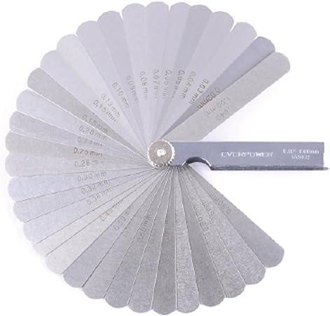 Latest 32 Blade Feeler Filler Gauge Spark Plug Gap Metric//SAE Measuring Tool