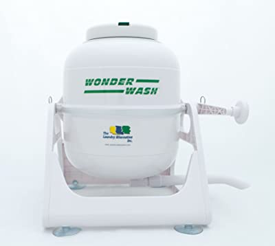Image: Laundry Alternative Wonderwash | Non-electric Portable Compact Mini Washing Machine | Hand-crank unit washes a 5-lb. load super clean in just a couple of minutes