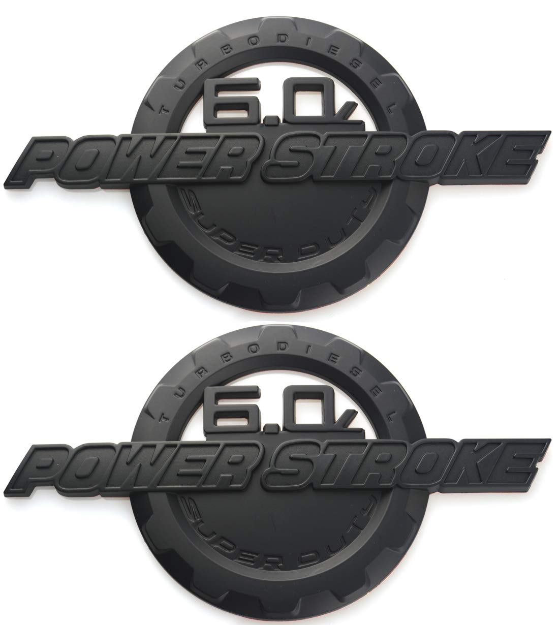 Black//Red 2x 6.0L Liter LS2 Real Aluminum Metal Engine Hood Emblem Badge Nameplate Crate compatible with Universal Cars