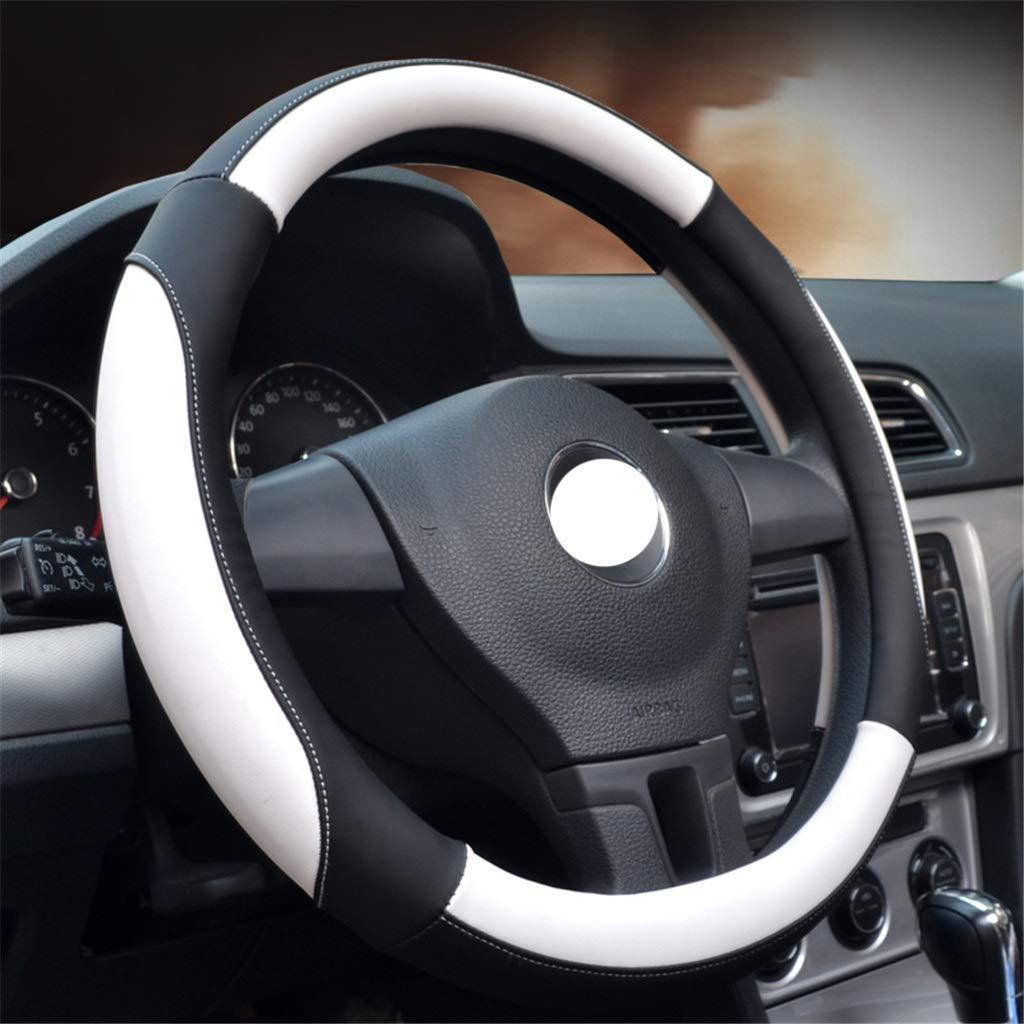 W&H Moda deportiva cubierta del volante Four Seasons Universal antideslizante resistente al desgaste transpirable para el diámetro 36-40 CM (color : C-38cm/14.96inch)