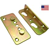 Premium No-Mortise Bed Rail Brackets (Complete Set of 4)