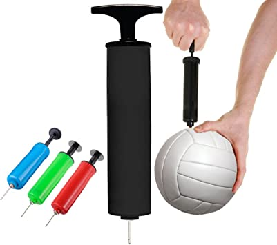 BALL AIR PUMP w// Needle Stored in Handle Brand New Basketball Soccer Volleyball