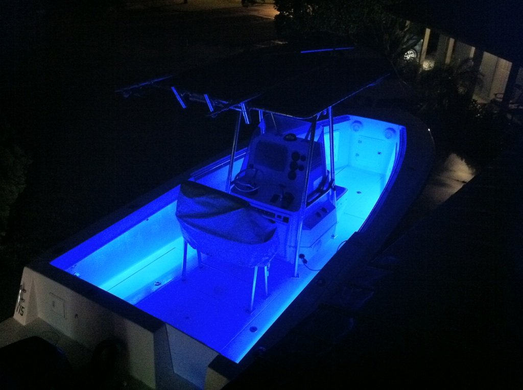 CH - Blue Boat Lights - Under Deck Pontoon Light/Pleasure Boat Accent LED Lights - Interior or Exterior 12V 12 Volt DC by CH