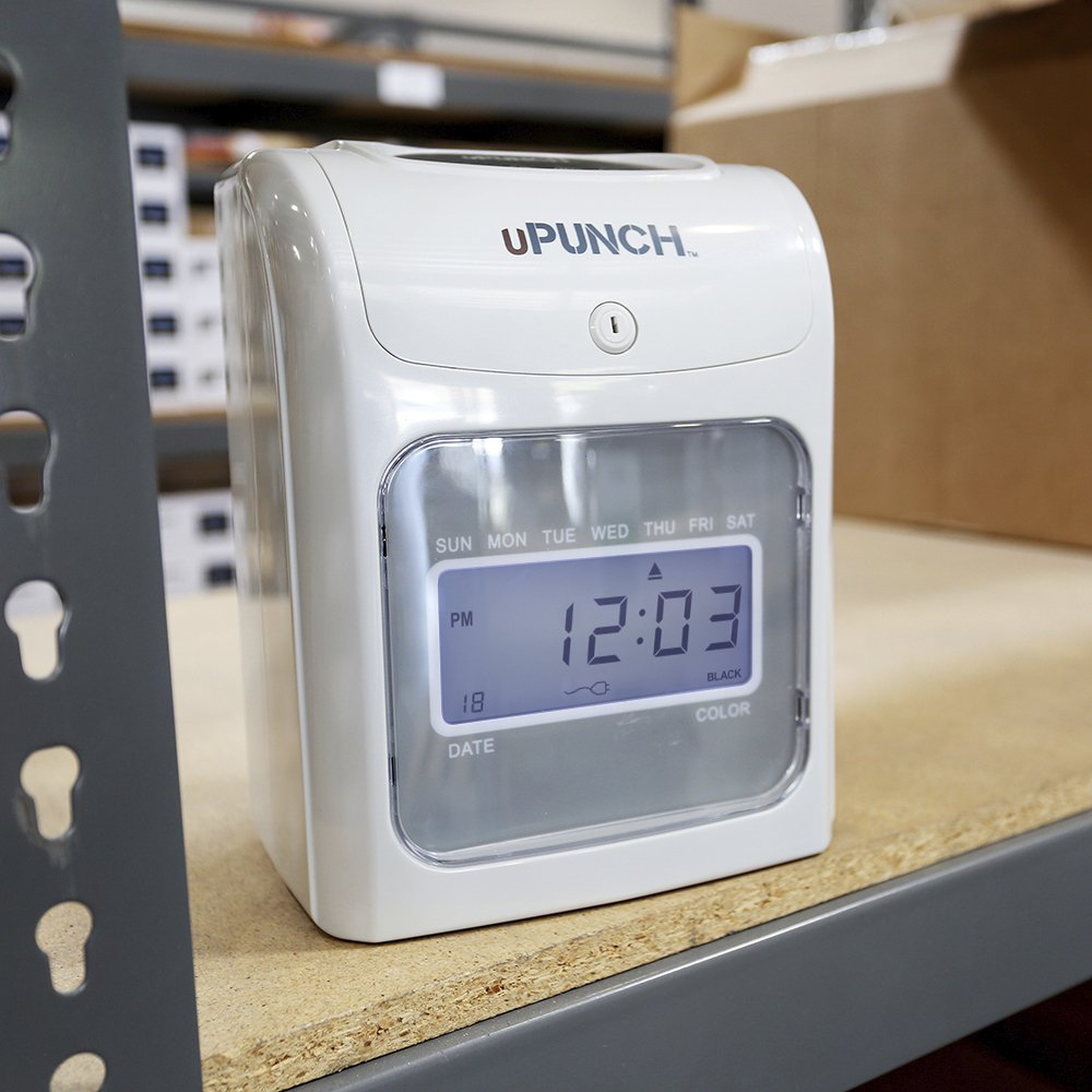 CALCULATING uPunch Time Clock Bundle with 200 Cards, 3 Ribbons, 2 Time Card Racks, & 2 Keys (HN4500) by uPunch (Image #5)
