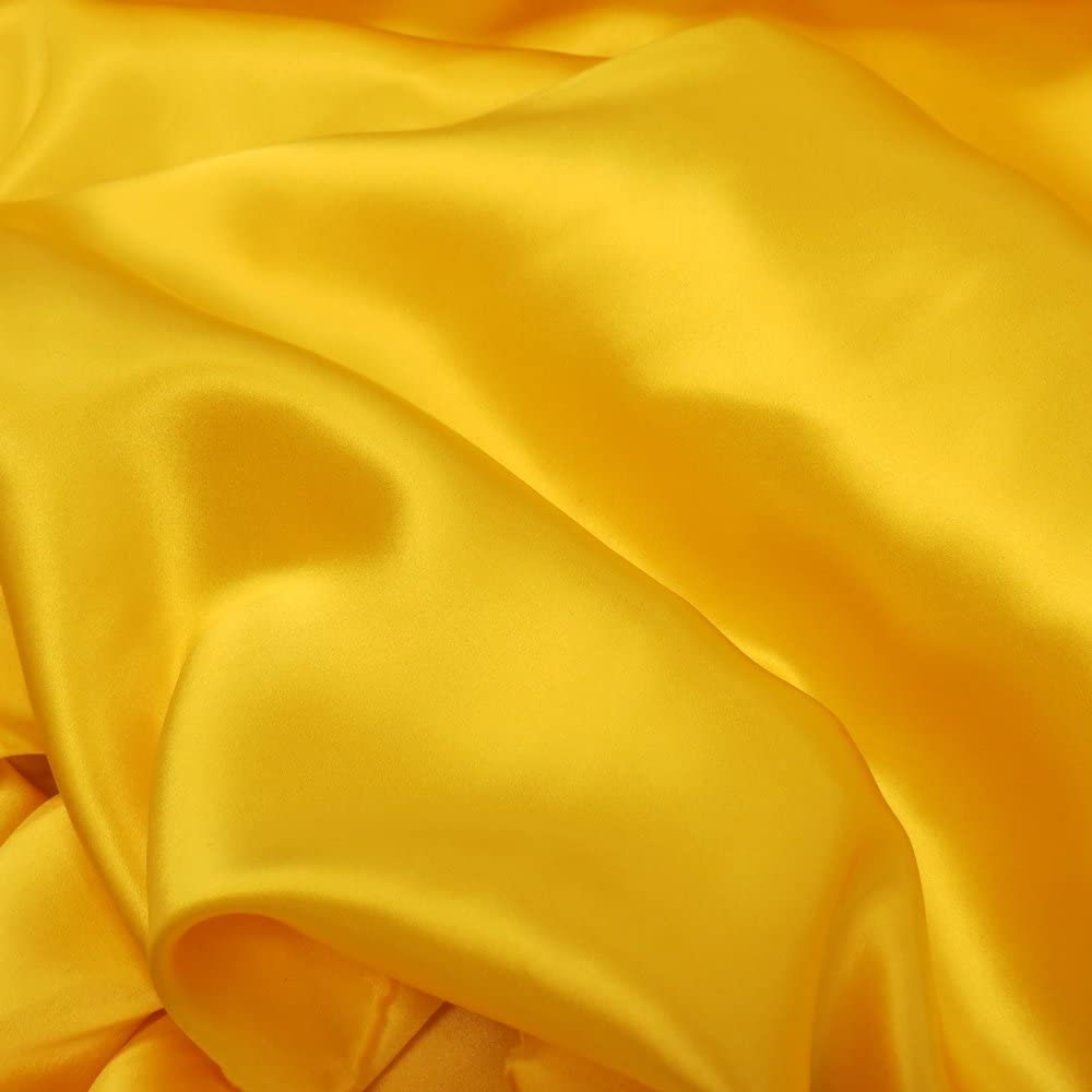 Yellow Silk Charmeuse Fabric By The Yard