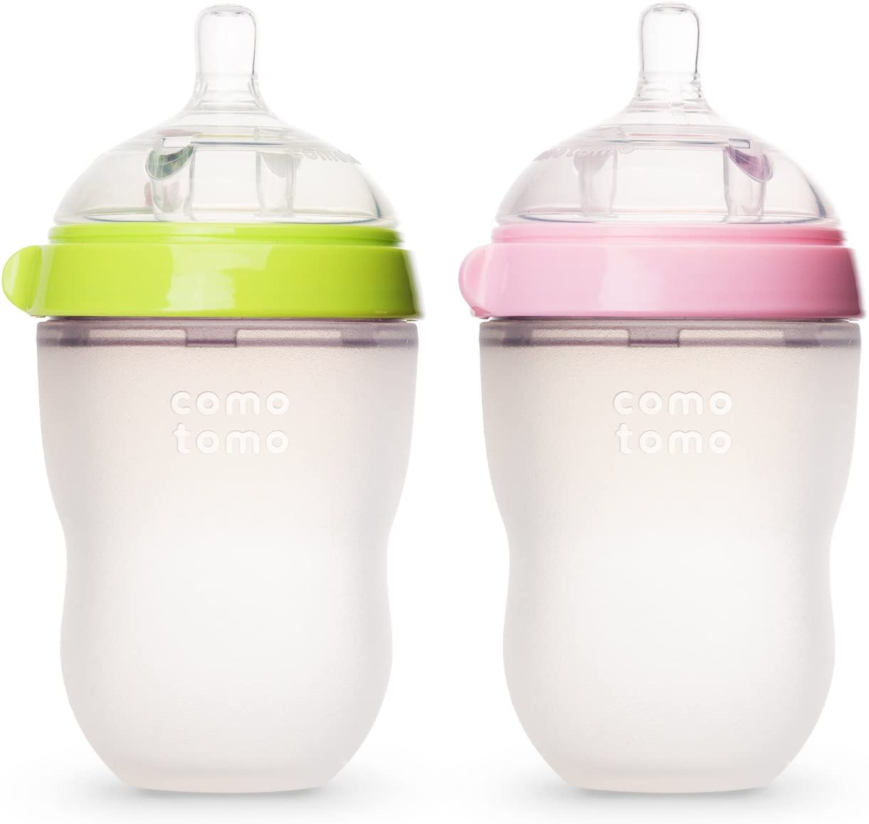 2 Count Comotomo Baby Bottle Green//Pink 8 Ounce
