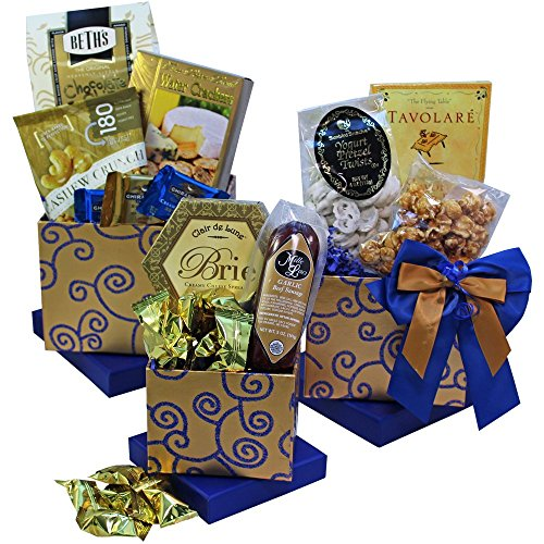 Art of Appreciation Gift Baskets Crowd Pleaser Gourmet Food Gift Tower (Chocolate Option)
