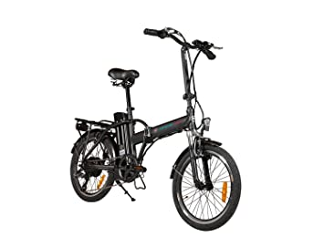 Simple Bike Bicicleta eléctrica Negro Plegable – 250-watts