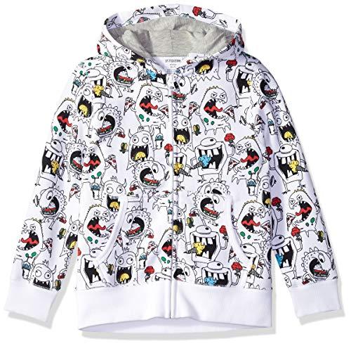 Spotted Zebra Little Kids' Fleece Zip-Up Hoodies, Junk Food Monster, Small (6-7)