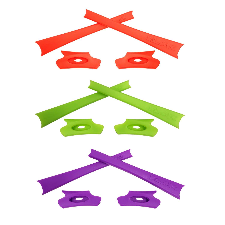 HKUCO Black/White/Orange Replacement Rubber Kit For Oakley Flak Jacket/Flak Jacket XLJ Sunglass Earsocks YycFEax6