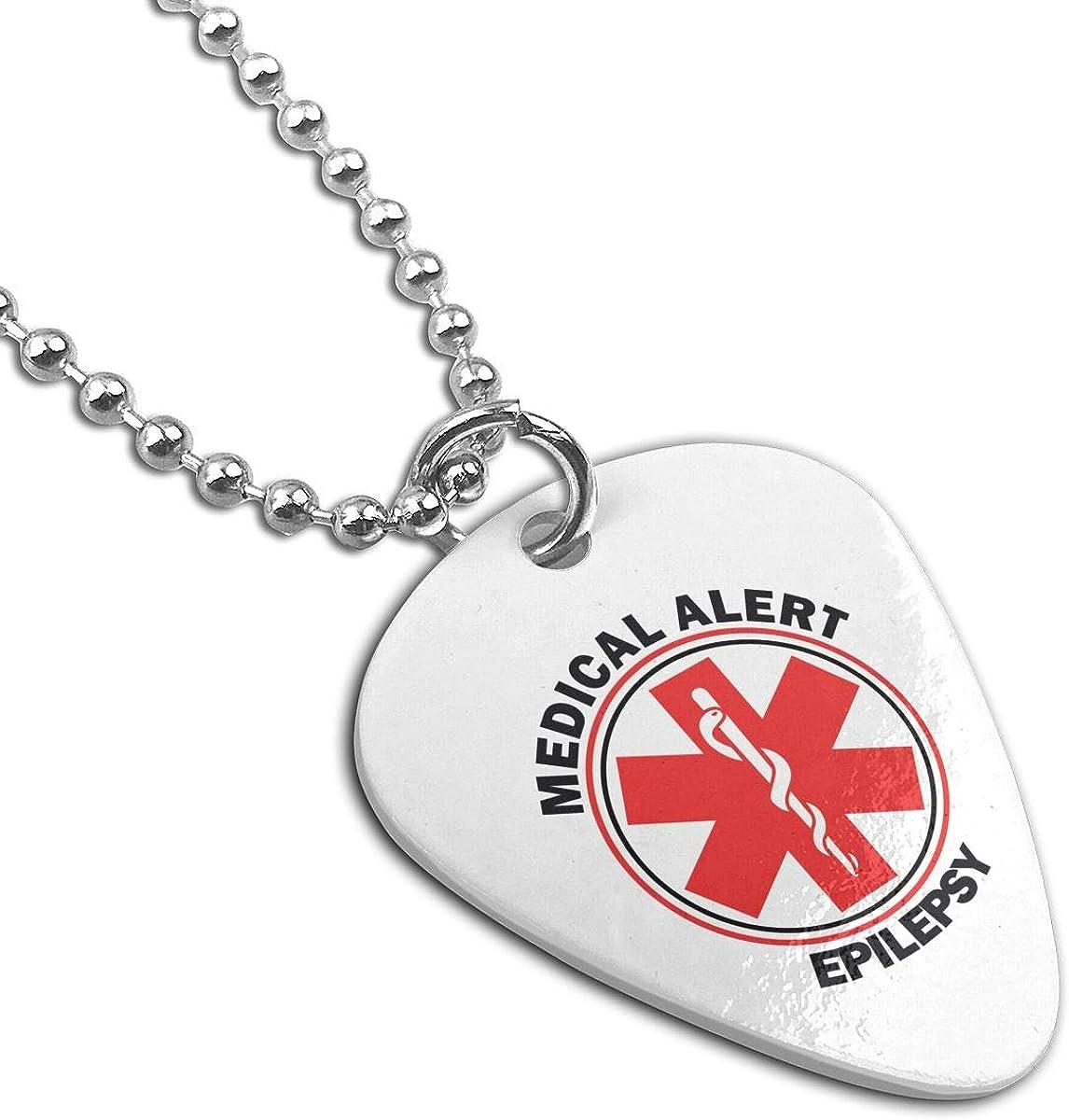 Medical Alert Pendant Necklace Guitar Pick Custom Keychain Pet Card