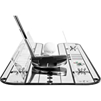 """Premium Alignment Putting Mirror with Our Exclusive Clear Adjustable Guide Rails - Leading Practice Aid for On-Line, Consistent Putting Stroke - Size : 17.5"""" x 9.3"""" - Golf Putting Aids/Putting Set"""