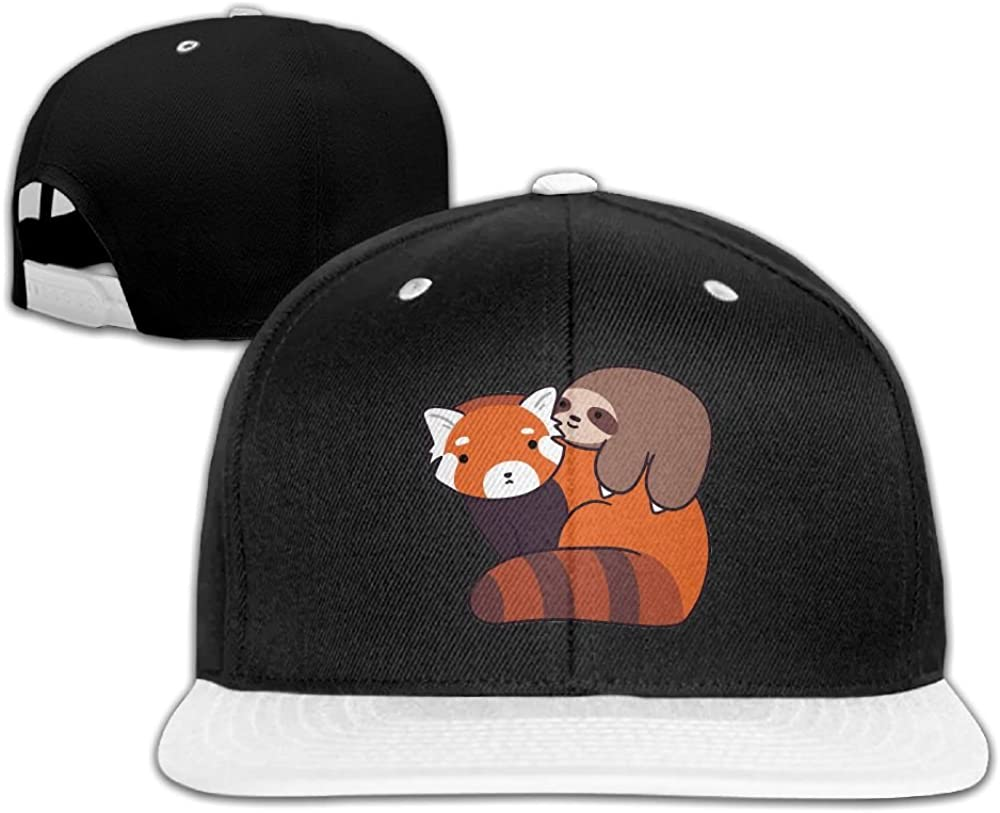 TBBC Unisex Little Sloth and Red Panda Adjustable Baseball Hats Hip-Hop Caps One Size.