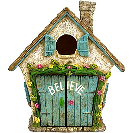 The Adorable Believe Fairy Garden House 8 Tall Hand Painted With Doors That Open By Twig Flower